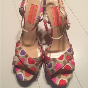 Chic colorful Kate Spade sandals